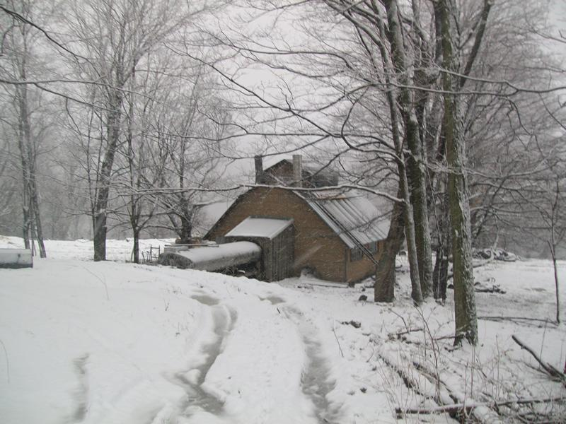 The Sugar Shack my Great Grandfather designed and my Grandfather built still in use.